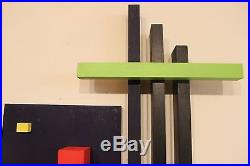 Vintage Abstract Sculpture 1971 Signed Marks Mid Century Modern Mondrian Leger