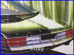Vintage Automotive Design Drawing Concept Sketch ca. 1970 Artist Homer Lagassey