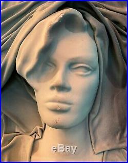 Vintage Female NUDE 3D Painting Mixed-Media artist signed Mid-century Wild