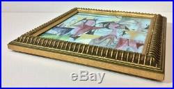 Vintage Gertrude Russell Barrer Mid-Century Illustrated Ceramic Tile, c. 1950s