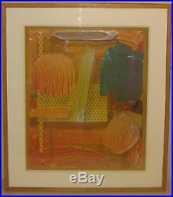 Vintage MICHAEL GALLAGHER Non objective ABSTRACT Mixed Media Painting & Collage