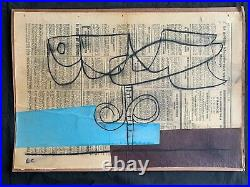 Vintage mixed media on cardboard! LE CORBUSIER hand signed