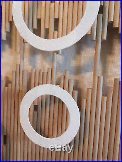 Vtg Mid Century MODERN Abstract Mixed Media 3D Artwork Lucite Arcylic Framed Art
