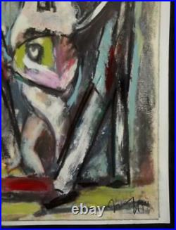 WALTER FIRPO 1903-2002 Matisse & Gleizes Friend Cubist Mixed Media Painting 1960
