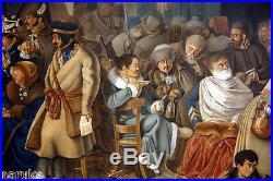 WATERCOLOR GOUACH NAPOLEON vs RUSSIA byChristian Wilhelm von Faber Du Faur