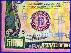 WILL STREET Mixed Media Painting / $treet art $5000 dface faile Marilyn Manson