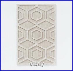 West Elm Whitewashed Wood Wall Art Hexagon