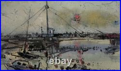 William Selwyn, Signed Original Welsh Art, Framed Mixed Media, Caernarfon