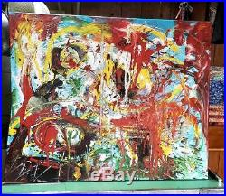William de Kooning Mixed Media on Canvas Painting-COA- Signed-Attr