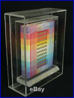 YAACOV AGAM RAINBOW TORAH with 3-D POLYMORPH COVER & ACRYLIC STAND COVER