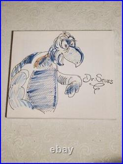 Yertle The Turtle Genuine Original Dr. Seuss signed artwork