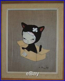 Yoshitomo Nara MIX Media On Canvas, 1999