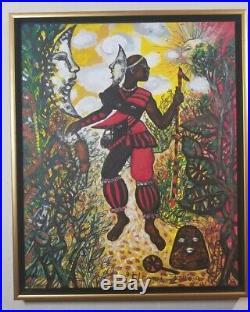Zaida Del Rio cuban artist Eleggua Mix media Canvas, signed