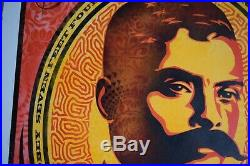 Zapata 2020 Red HPM 6/15 Mixed Media by Shepard Fairey x Ernesto Yerena withCOA